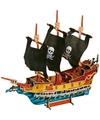 Houten puzzel 3D piraten schip