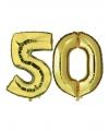 50 jaar huwelijksjublileum goud folie ballonnen