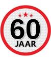 Stopbord sticker 60 jaar