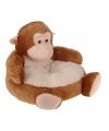 Kinderstoel pluche aap 43 cm