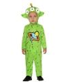 Verkleedpak groene alien voor peuters