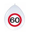 Ballonnen 60 jaar verkeersbord 30 cm