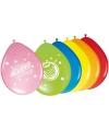 Ballonnen met verjaardag print 8 stuks