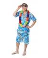 Lichtblauw Hawaii pak voor heren