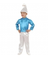 Blauwe kabouter kinder outfit