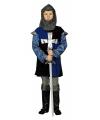 Blauw mideleeuws pak voor kinderen