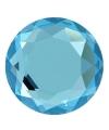 Blauwe diamant drukknoop 1,8 cm