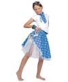 Blauwe rok met witte stippen voor meiden