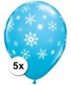 Winter ballonnen met sneeuwvlokken
