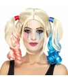 Blonde Harley look-a-like damespruik met staarten