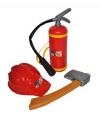 Brandweer set met helm plastic