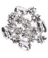 Zilveren cadeaulinten en strikjes set