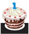 Verjaardags taart kaarsjes 1 jaar