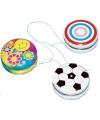 Speelgoed jojo met cirkels 3,5 cm