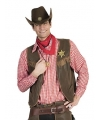 Cowboy outfit rode blouse voor heren