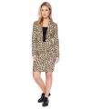 Bruine business suit met luipaard print voor dames