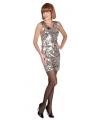 Zilveren jurk met pailletten