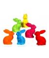Plastic paashaas in felle kleuren