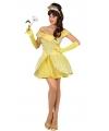 Prinsessen verkleedkleding geel