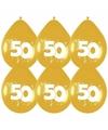 Decoratie Gouden ballonnen 50 jaar