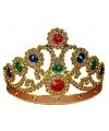 Carnaval gouden kroon met edelstenen