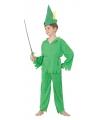Groene bosjongen kostuum voor kinderen