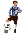 Big Size bierfeest broek Andreas donkerbruin