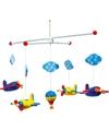 Vliegtuigen hangdecoratie voor kinderkamer 44 cm