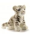 Levensechte pluche tijger wit 18 cm