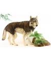Realistische pluche wolf 100 cm