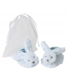 Kraamkado slofjes blauw konijn