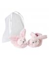 Baby slofjes roze konijntjes