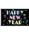 Zwarte vlag Happy New Year