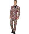 Carnavalskleding heren kostuum neon luipaard