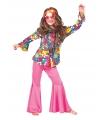 Hippie blouse met bloemen kids