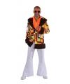 Oranje Hippie colbert met pluche