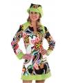 Gekleurd dames kostuum Hippie