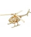 Houten bouwpakket helicopter 3D