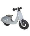 Loopfiets model zilveren scooter