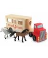 Houten paarden vrachtwagen