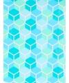 Rol kadopapier blauw grafisch 70 x 200 cm