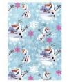 Frozen kadopapier Olaf blauw