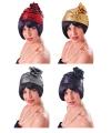 Gekleurde Jaren 20 hoed voor dames