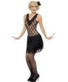 Zwart jaren 20 jurkje voor dames