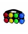 Kunststof ballen jeu de boules set