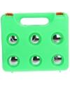 6 ballen Jeu de Boueles in groene plastic koffer