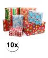 10 rollen kadopapier kerstmis