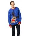 Kerstmis trui met rendieren print