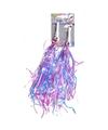 Meisjesfiets versiering voor handvaten paars