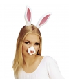 Kunstof konijnen nep neus